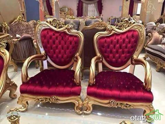 طرحهای جدید مبل قرمز سلطنتی و نحوه چیدن آنها در پذیرایی