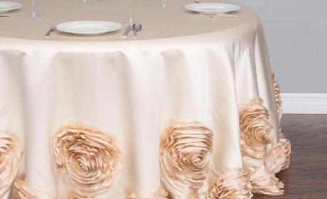 طرحهای جدید رومیزی مناسب میز ناهارخوری گرد در رنگهای مختلف