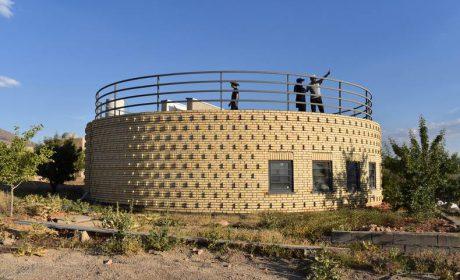 خانه ویلایی دایرهای با طراحی بسیار خاص و زیبا به همراه پلان