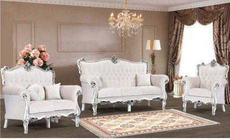 ستهای جدید مبلمان چوبی سفید برای هال پذیرایی و اتاق نشیمن
