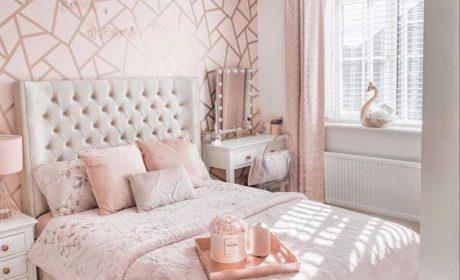 30 مدل لوکس تخت خواب طوسی دخترانه با طراحی جدید و مدرن