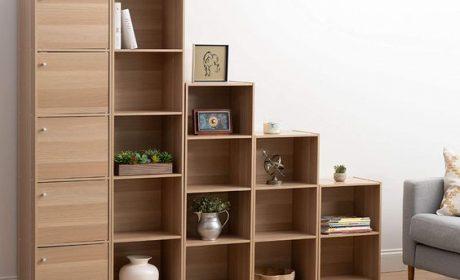 مدل کتابخانه جادار در طرحهای ایستاده مناسب منازل کوچک