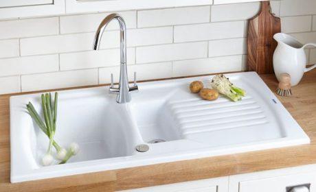 مدلهای جدید سینک ظرفشویی سفید در انواع سرامیکی و استیل