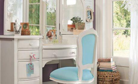چیدمان میز آرایش دخترانه متناسب با تمامی سبک های دکوراسیون داخلی اتاق خواب