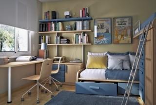 دکوراسیون اتاق نوجوان - طراحی داخلی و چیدمان اتاق کوچک / عکس