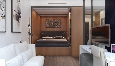 دکوراسیون آپارتمان کوچک همراه پلان کف سازی / عکس 1395
