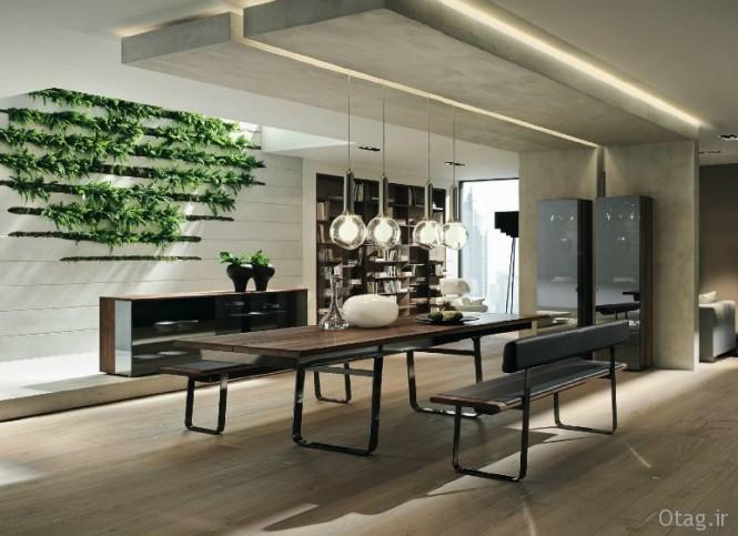 انواع مدل میز ناهار خوری چوبی و میز تلویزیون سنتی در چیدمان مدرن