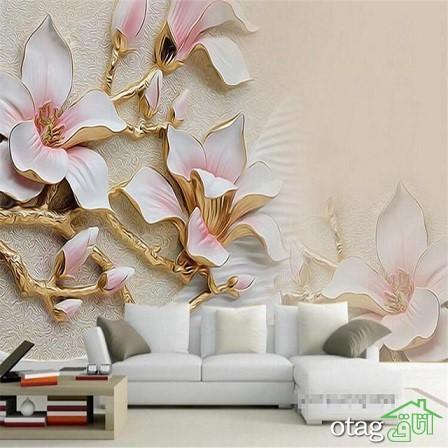 انواع طرح و رنگ کاغذ دیواری، لمینت و کفپوش