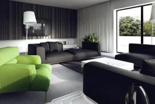 بکارگیری تم دکوراسیون سیاه و سفید در طراحی منزل