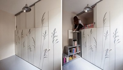 آشنایی با دکوراسیون آپارتمان بسیار کوچک 8 متری در شهر پاریس