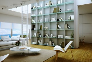 انواع مدل کتابخانه مدرن و چوبی - کتابخانه خانگی شیک و بزرگ