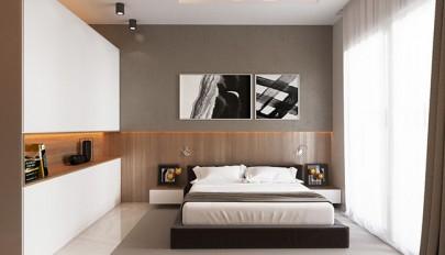 رنگ و طراحی اتاق خواب با چیدمانی لوکس اما ساده و امروزی
