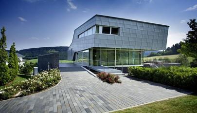 بررسی نمای خارجی ویلا با معماری پیشرفته بهمراه چیدمان داخلی