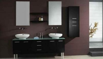 مدل کابینت حمام و سرویس بهداشتی ساخته شده از ام دی اف و چوب