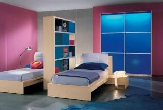 طراحی دکوراسیون اتاق خواب کودکان دوقلو در فضای کوچک و بزرگ