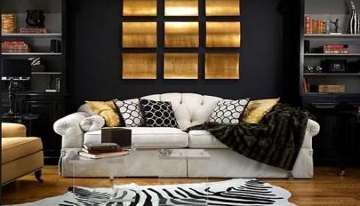 دکوراسیون سیاه و طلایی / مدلی بسیار زیبا در طراحی داخلی منزل