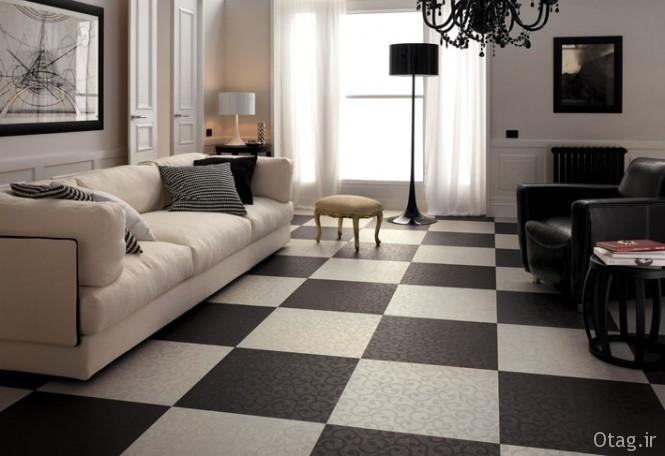 Black-white-living-room-checkered-floor-tiles-665x456