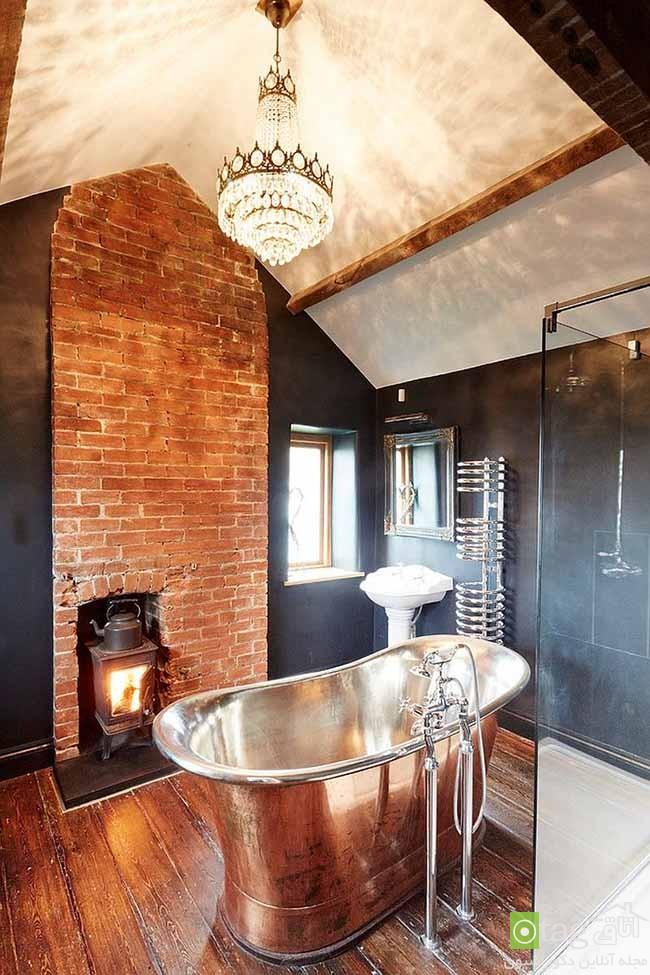 Brick-wall-in-elegant-bathrooms (15)