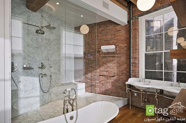 Brick-wall-in-elegant-bathrooms (9)