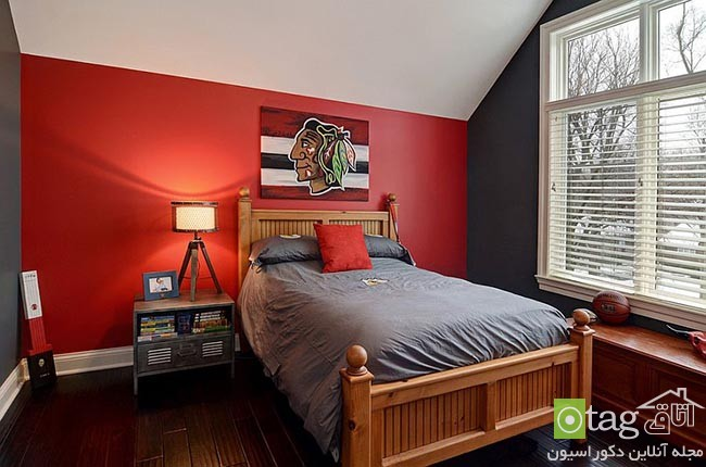 Cheerful-and-chic-kids-room-with-red-accent (10)