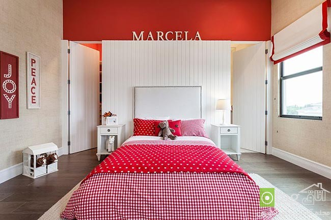 Cheerful-and-chic-kids-room-with-red-accent (11)