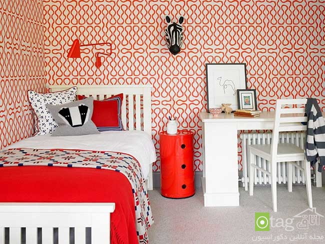 Cheerful-and-chic-kids-room-with-red-accent (4)