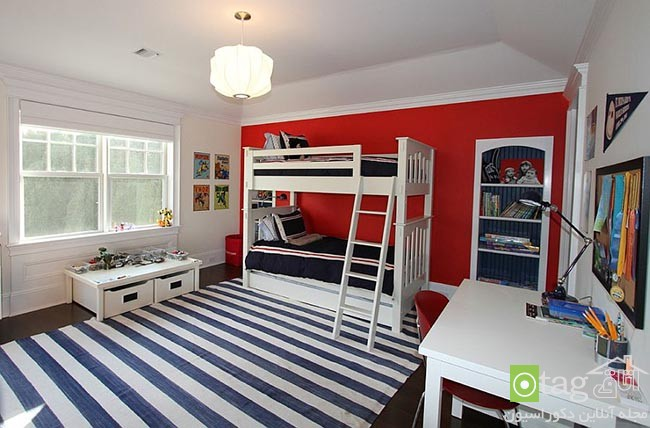 Cheerful-and-chic-kids-room-with-red-accent (5)