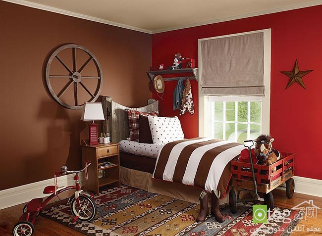 Cheerful-and-chic-kids-room-with-red-accent (6)