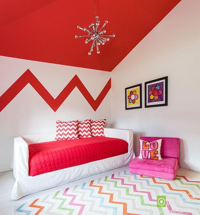 Cheerful-and-chic-kids-room-with-red-accent (7)