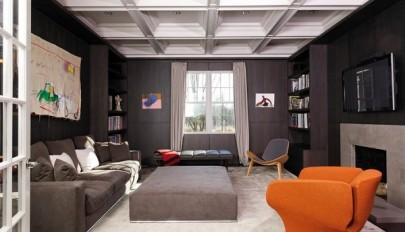 مدل های زیبای سقف خانه / سقف شبکه ای با پنل های فرو رفته