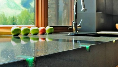 آشنایی با مدل های شیک سنگ کابینت آشپزخانه ساخته شده از بتن