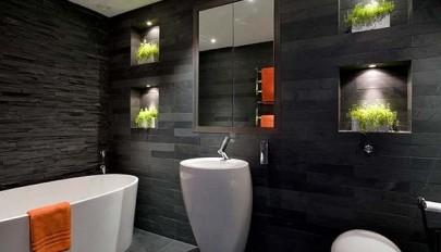 آشنایی با 20 طرح کاشی سیاه حمام با دیزاین فوق العاده شیک