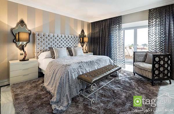 Contemporary-bedroom-designs-with-striped-accent-wall (15)