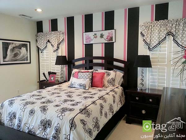 Contemporary-bedroom-designs-with-striped-accent-wall (20)