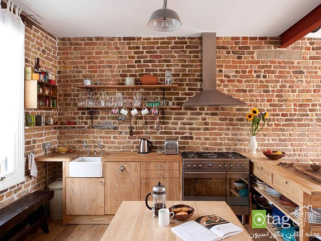 Contemporary-kitchen-with-brick-walls (1)