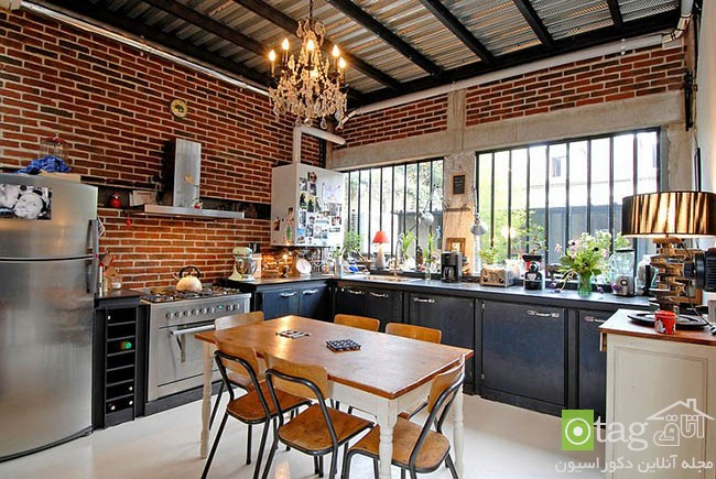 Contemporary-kitchen-with-brick-walls (10)