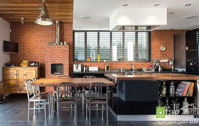 Contemporary-kitchen-with-brick-walls (6)