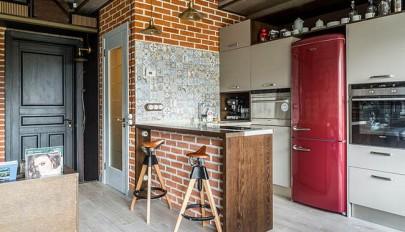 زیباترین طرح های دیوار آجری در آشپزخانه مدرن و کلاسیک