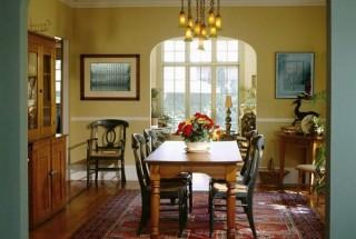 طراحی داخلی و دکوراسیون اتاق غذا خوری شیک و زیبا