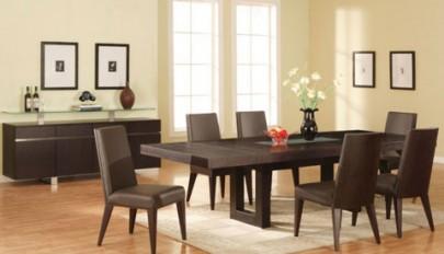 ست میز ناهارخوری در اتاق غذاخوری با جینش و دکوراسیون مجلل