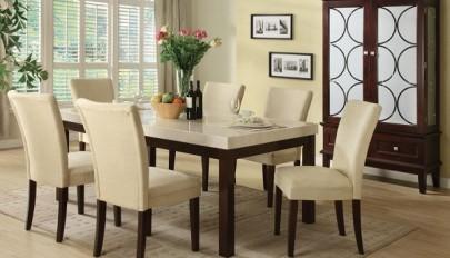 مدل میز ناهارخوری چوبی، شیشه ای و سنگی شیک و فوق العاده زیبا