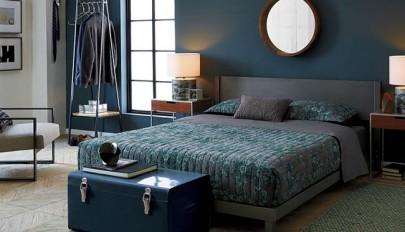 نمونه های رنگ اتاق خواب دو نفره با چیدمانی شیک و آرامش بخش