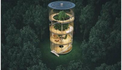 نمای تمام شیشه ای ساختمان با تکنولوژی پیشرفته و منحصر بفرد