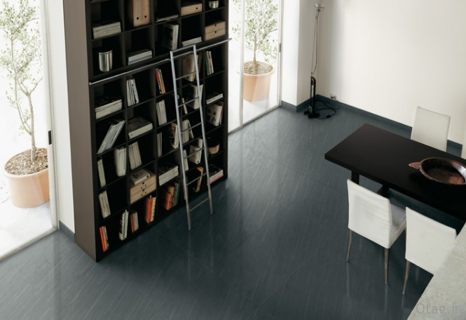 Gray-ceramic-tile-floor-home-library-dining-room-665x456