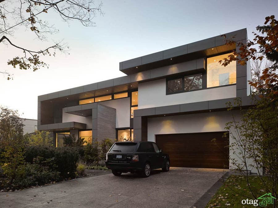 Impressive-Modern-Home-Toronto-Canada-Driveway-Garage