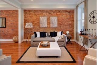 دیوار آجری در دکوراسیون داخلی منزل / عکس