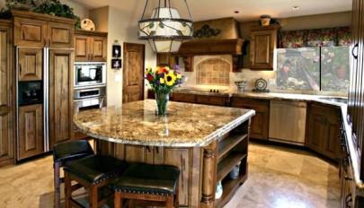 مدل جدید جزیره آشپزخانه با اشکال زیبا و جادار در سال 2015