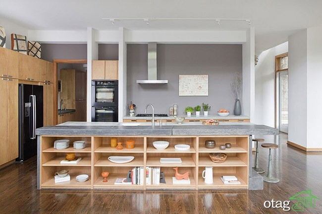 Kitchen Islands with Open Shelving (10)