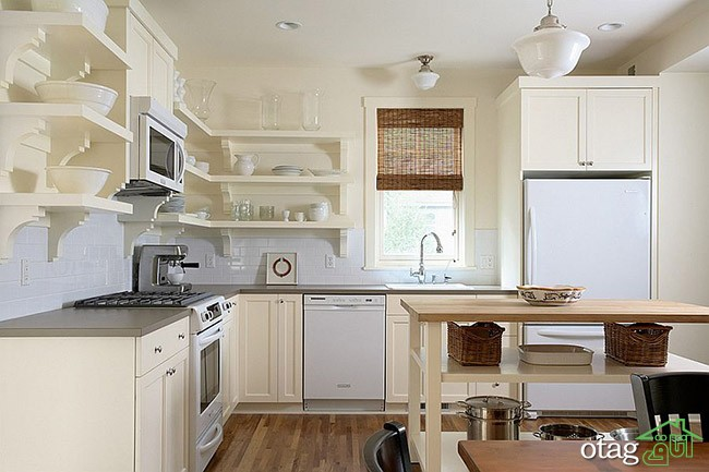 Kitchen Islands with Open Shelving (14)