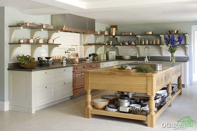 Kitchen Islands with Open Shelving (16)